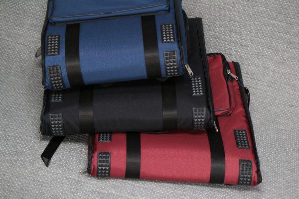 Fuselliバッグ 各サイズ入荷しました。ワイドベルト(カーキ色)  バンドネオン用も!